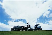 Truck Towing Car    Stock Photo - Premium Rights-Managednull, Code: 700-00481689