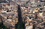Aerial view of a densely populated city Stock Photo - Premium Royalty-Freenull, Code: 618-00486917