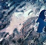 Satellite view of landscape on earth Stock Photo - Premium Royalty-Freenull, Code: 618-00493556