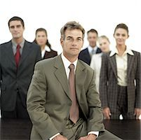 portrait of a team of business executives Stock Photo - Premium Royalty-Freenull, Code: 618-00494046
