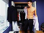 Man Getting Dressed