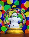 Snowman Snow Globe    Stock Photo - Premium Rights-Managed, Artist: Guy Grenier, Code: 700-00513772