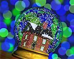 Home in Snow Globe    Stock Photo - Premium Rights-Managed, Artist: Guy Grenier, Code: 700-00513773