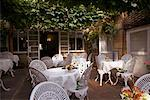 Restaurant Patio in Cotswolds, England    Stock Photo - Premium Rights-Managed, Artist: George Simhoni, Code: 700-00513850