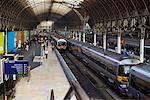 Platform at Paddington Station, London, England