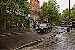 Taxi on Rainy Street in London, England    Stock Photo - Premium Rights-Managed, Artist: George Simhoni, Code: 700-00513863