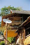 Traditional House with Satellite Dish, Luobang, Duyun, China