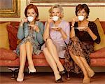 Portrait of Women Drinking Tea    Stock Photo - Premium Rights-Managed, Artist: Masterfile, Code: 700-00514903