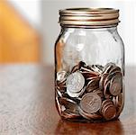 Jar of Coins    Stock Photo - Premium Rights-Managed, Artist: Edward Pond, Code: 700-00515208