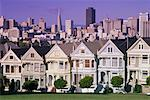 Victorian Homes, Steiner Street, San Francisco, California, USA    Stock Photo - Premium Rights-Managed, Artist: Roy Ooms, Code: 700-00515466