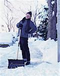 Man With Back Pains After Shovelling Snow