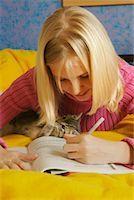 Girl Doing Homework    Stock Photo - Premium Rights-Managednull, Code: 700-00519391