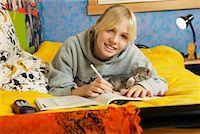 Girl Doing Homework    Stock Photo - Premium Rights-Managednull, Code: 700-00519393