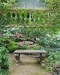 Garden and Bench    Stock Photo - Premium Rights-Managed, Artist: Nora Good, Code: 700-00519416