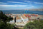 Overview of Harbor, Valparaiso, Chile