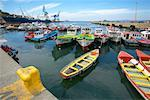 Boats in Harbor, Valparaiso, Chile    Stock Photo - Premium Rights-Managed, Artist: Graham French, Code: 700-00520143