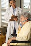 Doctor with Patient    Stock Photo - Premium Rights-Managed, Artist: Matthew Wiley, Code: 700-00520271