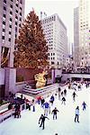 Skating at Rockefeller Center, New York City, New York, USA