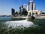 Merlion and Singapore Skyline    Stock Photo - Premium Rights-Managed, Artist: Jeremy Woodhouse, Code: 700-00520914