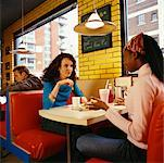 Friends at a Diner    Stock Photo - Premium Rights-Managed, Artist: Horst Herget, Code: 700-00521550