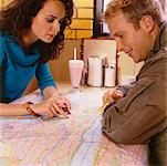 Couple Looking at Road Map    Stock Photo - Premium Rights-Managed, Artist: Horst Herget, Code: 700-00521551