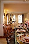 Table Set for Christmas Dinner    Stock Photo - Premium Rights-Managed, Artist: David Papazian, Code: 700-00521594