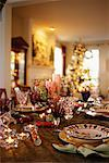 Table Set for Christmas Dinner    Stock Photo - Premium Rights-Managed, Artist: David Papazian, Code: 700-00521595