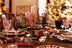 Table Set for Christmas Dinner    Stock Photo - Premium Rights-Managed, Artist: David Papazian, Code: 700-00521596