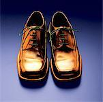 A Pair of Golden Shoes    Stock Photo - Premium Rights-Managed, Artist: Michael Mahovlich, Code: 700-00522263
