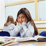 Student Looking Bored in Classroom    Stock Photo - Premium Rights-Managed, Artist: Masterfile, Code: 700-00523390