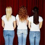 Backs of Three Women    Stock Photo - Premium Rights-Managed, Artist: Masterfile, Code: 700-00524558