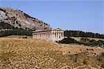 Temple of Segesta, Segesta, Sicily, Italy    Stock Photo - Premium Rights-Managed, Artist: Alberto Biscaro, Code: 700-00526445