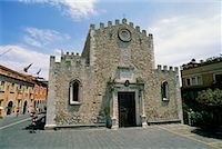 Exterior of Cathedral, Taormina, Sicily, Italy    Stock Photo - Premium Rights-Managednull, Code: 700-00526467
