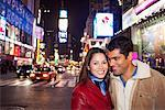 Couple in Times Square, New York City, New York, USA    Stock Photo - Premium Rights-Managed, Artist: Mark Leibowitz, Code: 700-00527466