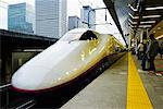 Bullet Train at Tokyo Station, Tokyo, Japan    Stock Photo - Premium Rights-Managed, Artist: Jeremy Woodhouse, Code: 700-00527998
