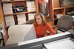 Portrait of Woman in Home Office    Stock Photo - Premium Rights-Managed, Artist: Steve Prezant, Code: 700-00528229