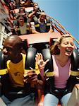 People on Roller Coaster    Stock Photo - Premium Rights-Managed, Artist: Jeremy Maude, Code: 700-00528732