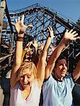 People on Roller Coaster    Stock Photo - Premium Rights-Managed, Artist: Jeremy Maude, Code: 700-00528740