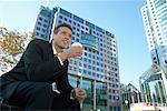 Businessman taking Coffee Break    Stock Photo - Premium Rights-Managed, Artist: Peter Griffith, Code: 700-00529288