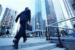Businessman Rushing to Work    Stock Photo - Premium Rights-Managed, Artist: Peter Griffith, Code: 700-00529294