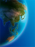 Asia and the Pacific Rim    Stock Photo - Premium Rights-Managednull, Code: 700-00529383