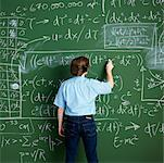 Man in Front of Chalkboard    Stock Photo - Premium Rights-Managed, Artist: Edward Pond, Code: 700-00529405