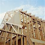 House Under Construction Stock Photo - Premium Rights-Managed, Artist: David Papazian, Code: 700-00529849