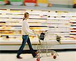 Woman in Grocery Store    Stock Photo - Premium Rights-Managed, Artist: Raoul Minsart, Code: 700-00530239