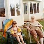 Grandmother and Granddaughter    Stock Photo - Premium Rights-Managed, Artist: Tom Feiler, Code: 700-00530695