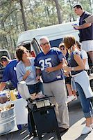People at a Tailgate Party    Stock Photo - Premium Rights-Managednull, Code: 700-00530718