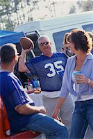 fat man balls - People at a Tailgate Party    Stock Photo - Premium Rights-Managednull, Code: 700-00530726