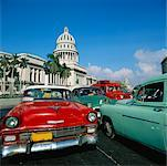 Cars in Parking Lot Outside of National Capitol, Havana, Cuba    Stock Photo - Premium Rights-Managed, Artist: Alberto Biscaro, Code: 700-00543958