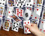 Hand Toppling Card Structure