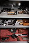 Handguns Stored in Vault    Stock Photo - Premium Rights-Managed, Artist: Michael Mahovlich, Code: 700-00546354